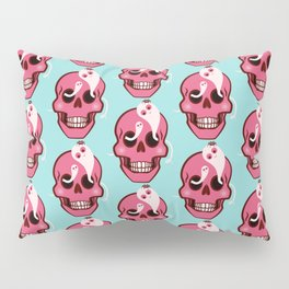 Cute Skull With Spider And Ghosts In Eye Sockets Pillow Sham