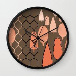 Fency Forest Wall Clock