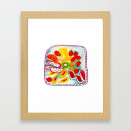 Fresh fruit Framed Art Print