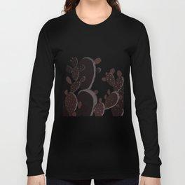 Brown Prickly Cacti Long Sleeve T-shirt