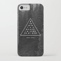 bon iver iPhone & iPod Cases featuring Woods -- Bon Iver by Zeke Tucker