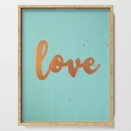 Acrylic 5 - Love! Serving Tray