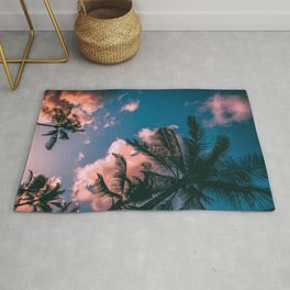 CLOUDS - COCONUT - TREES - DAYLIGHT - PHOTOGRAPHY Rug