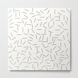 lignes noires Metal Print