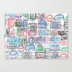 Passport Stamps Canvas Print