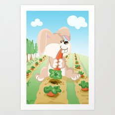 Bunny from the Land of the Three Art Print