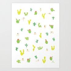Desert yoga Art Print