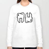 teeth Long Sleeve T-shirts featuring TEETH by BLOODYGUMS