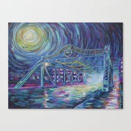 Riverside Bridge Canvas Print