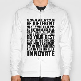 """Do what you love... """"Steve Jobs"""" Life Inspirational Quote Hoody"""