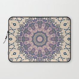 No. 20 Wisteria Arbor Way Regal Purple & Ivory Hugs and Kisses Mandala Laptop Sleeve