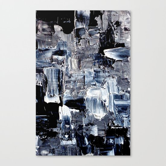 50 Shades... - black & white abstract painting Canvas Print