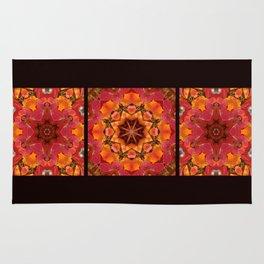 Serviceberry mandala tapestry Rug