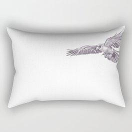 Pencil Drawing - Crow Rectangular Pillow