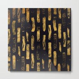 Gold Foil Paint Brush #4 Metal Print