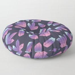 Gems Geology Crystals Floor Pillow
