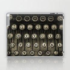 Typewriter Keys Laptop & iPad Skin