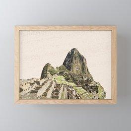 ArtWork Painting Machu Picchu Peru Paint Framed Mini Art Print