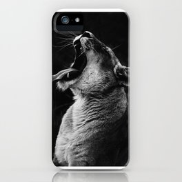 Yawning Lion iPhone Case