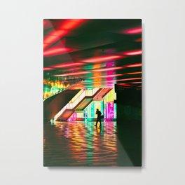 Neon Stride Metal Print