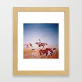 Rousting the Cattle, AUSTRALIA         by Kay Lipton Framed Art Print