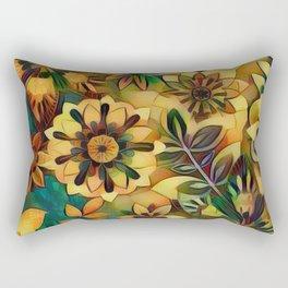 A Floral Dance Rectangular Pillow