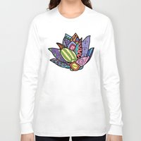 lotus flower Long Sleeve T-shirts featuring Lotus by Ilse S
