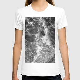 Ocean Glow - Black and White Nature Photography T-shirt