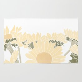 sunflower bouquet Rug