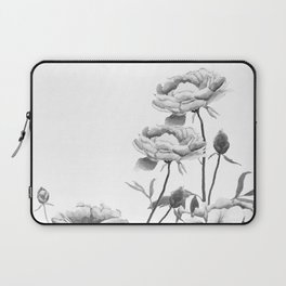 black and white peonies Laptop Sleeve