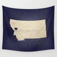 montana Wall Tapestries featuring Missoula, Montana by Fercute