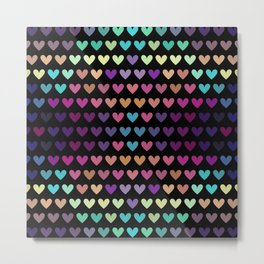 Colorful hearts IV Metal Print