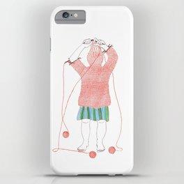 Knitster Girl Turtleneck iPhone Case