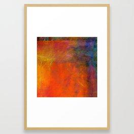 Orange Study #2 Digital Painting Framed Art Print