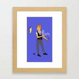 Young Scholar Framed Art Print