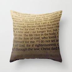 Through the Law. Throw Pillow