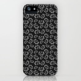 Lotus flower pattern in white color iPhone Case