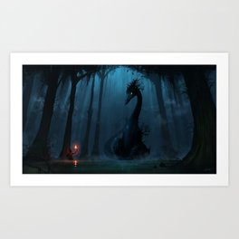 Swamplands Dragon Art Print