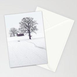 Rural Winter Landscape Stationery Cards