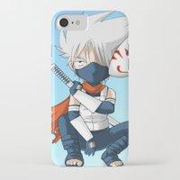 kakashi iPhone & iPod Cases featuring Kakashi by KarasuArt