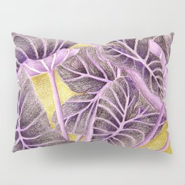 Purple Taro Leaves Pillow Sham