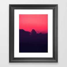 Light through the clouds Framed Art Print