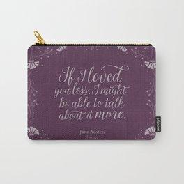 Purple Floral Love Quote  Emma Jane Austen Carry-All Pouch