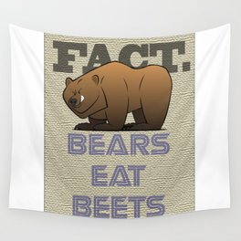 Bears Eat Beets Wall Tapestry