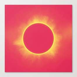 Solar Eclipse in Bright Red Canvas Print