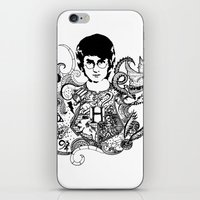 harry potter iPhone & iPod Skins featuring Harry Potter by Ink Tales
