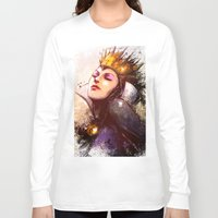 evil queen Long Sleeve T-shirts featuring Evil Queen by Vincent Vernacatola