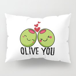 OliveYou | I Love You | Valentine's Day Heart Pillow Sham