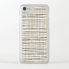Line Art - Gold and Black Lines on White - Mix and Match with Simplicty of Life Clear iPhone Case