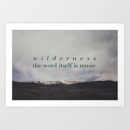 Edward Abbey x Wilderness Art Print